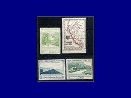 PEROU Poste ** - 399 A + C/E, 4 Valeurs Non émises Sans Surcharge: Congrès Routier 1944. Rare - Pérou