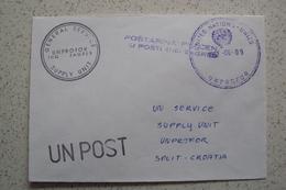 STORIA POSTALE MISSIONI INTERNAZIONALI ONU NATO MISSIONE IN BOSNIA UNITED NATIONS MISSION UNPROFOR 2009 - Croazia