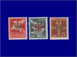 ALL. 39/45 - LAIBACH Poste ** - Michel 21 + 23 + 27 V, Trait Dans Le Bec & L'aile, Case 60 - Cote: 180 - Occupation 1938-45