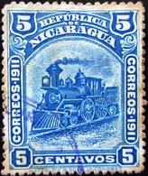1912 Nicaragua Mi 299 , Sn 1L113 .  Locomotive - Costa Atlantica Issue - Nicaragua