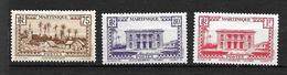 MARTINIQUE  1933-38 Lot De 3 Timbres   N° 146,146A,148A    Basses Pointes       Neufs Avec  Trace De Charnière - Unused Stamps