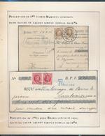 BELGIUM BELGIQUE HOUYOUX RECUS BRUXELLES - 1922-1927 Houyoux