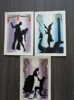 3 Oude Postkaarten Geschilderd Met Revolver - Cartes Postales