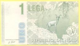 1 Lega - Pseudo Banconota Della Repubblica Del Nord - Gadget Politico - Lega Nord Bossi Umberto - Italia