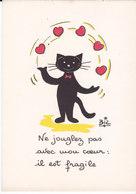 Illustrateur BIZ  Humour  CHAT Noir -  Jonglez Pas Avec Mon Coeur - Illustrators & Photographers