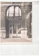 """Photo ( 18 X 24 Cm ) Devanture """" Cie IBM France """" - Lieux"""