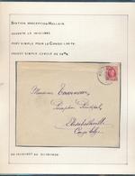 BELGIUM BELGIQUE HOUYOUX LETTRE D'HOLLAIN 1929 VERS ELISABETHVILLE - 1922-1927 Houyoux