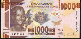 GUINEA P48b 1000 FRANCS 2017 #CQ      UNC. - Guinea
