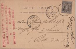 Carte Commerciale Peugeot Vélocipèdes 1889 Faisant Réf. à L'expo Universelle Paris 1889 - Marcophilie (Lettres)