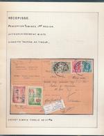 BELGIUM BELGIQUE HOUYOUX RECEPISSE DE TAMINES VERS AUVELAIS - 1922-1927 Houyoux