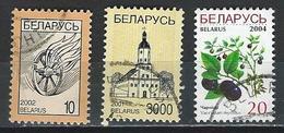 Belarus. Scott # 412,19,95 Used.  Regular Issue 2001-04 - Belarus