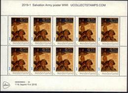 Nederland 2019  Leger Des Heils  Salvation Army   WWI Poster         Vel-sheetlet        Postfris/mnh/sans Charniere - Periode 1980-... (Beatrix)