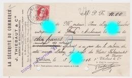 Verviers Thiebaut En 1912 Retenues Sur Salaire De Delrez Ouvrier Chez Dozot Entrepreneur à Cerexhe Heuseux - Bills Of Exchange