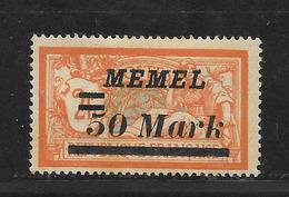 MEMEL MERSON N° 78 NEUF * - Memel (1920-1924)