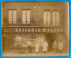 PHOTO Photographie Le Blanc Rue Lacon Lamine 75 PARIS - EPICERIE MALIDE - Magasin Boutique Devanture - Photos