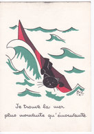 Illustrateur BIZ  Humour  CHAT Noir -  Mer Plus Mouvante Qu'émouvante - Other Illustrators