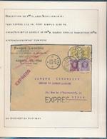 BELGIUM BELGIQUE HOUYOUX LETTRE EXPRES  DE VISE EN 1928 VERS LIEGE - 1922-1927 Houyoux
