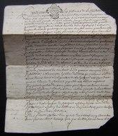 1777 Châtellenie De Villeneuve La Comtesse, Vente De Anne Bon à Pierre Rousset - Manuscrits