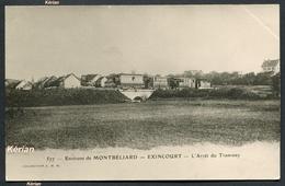 Ancienne Reproduction D'une CPA - Environs De Montbéliard - Exincourt - L'Arrêt Du Tramway - Collection J. M. H. 577 - Autres Communes