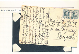 BELGIUM BELGIQUE HOUYOUX CARTE DE FLOREFFE EN 1925 VERS BRUXELLES - 1922-1927 Houyoux