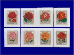 """ARABIE SUD/E MANAMA Poste ** - (non Listé Michel), Série """"Roses"""", 8 Valeurs, 8 Feuillets Non Dentelés - Manama"""