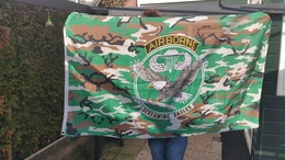 """Vlag Airborne - Screaming Eagles -2 Foto""""s For Condition( Originaal) - Flags"""