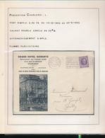 BELGIUM BELGIQUE HOUYOUX GRAND HOTEL SIEBERTZ CHARLEROI - 1922-1927 Houyoux