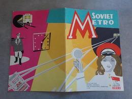 Exposition Bruxelles 1958 Propagande URSS Soviet Metro Métro Brochure Illustrée - Transports