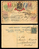 BELGIUM. 1908. BELGIUM-CUBA. Postcard Stamps Ilustrated. Signed By Hand By The Belgian Consul In Cuba + Blue Diplomatic - Belgien