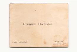 Carte De Visite ( 6 X 7.5 Cm ) Pierre Harang Villa Miramar St-Briac - Cartes De Visite