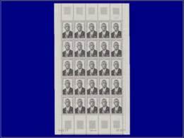 NOUVELLE-CALEDONIE Poste ** - 377, Feuille Complète De 25, Cd. 27/10/71, Pliée: De Gaulle - Cote: 285 - Nouvelle-Calédonie