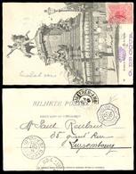 BRAZIL. 1904. Trem - Ambulant To Luxembourg. V. Rare Destination Mail. - Unclassified