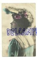 Photographie. Jeune Fille Et Chapeau à Plumes. Petite Boutons Dorés. 1906 - Mode