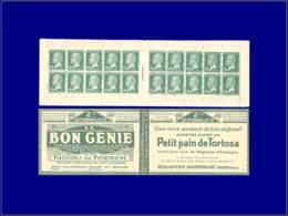 FRANCE Carnets * - 138, Série 93 - Tortosa-Bon Génie - Nougats - (points D'adhérences): 10c.Pasteur - Cote: 65 - Carnets