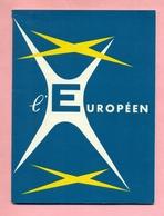 THEÂTRE DE L'EUROPEEN - SAISON 1961 : VIVE DE ... De Et Avec : ROCCA / GRELLO / TCHERNIA / CARMET / POIRET / SERRAULT - Programmes
