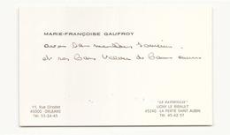 """Carte De Visite Gaufroy """" Le Patouillis """" à La Ferté Saint Aubin - Cartes De Visite"""