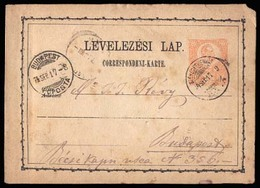 HUNGARY. 1874. Szekesfekervas / Budapest. Scarce Early Used 2kr Stat Card. - Hongrie