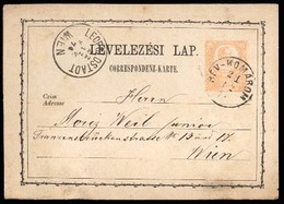 HUNGARY. 1874. Rev-Komarom / Wiem. Scarce Early Stat Card Usage. - Hongrie
