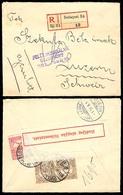 HUNGARY. 1915. Budapest / Switzerland. Regist Censored Frkd Env. - Hongrie