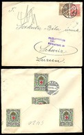 HUNGARY. 1915. Red Cross Tied Labels. Budapest / Switzerland. Censored. - Hongrie
