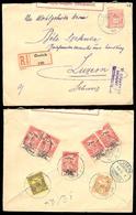 HUNGARY. 1915. Ótelek To Switzerland. Regist Stat Env + Adtls / Censored / Ovptd Issue. - Hongrie