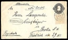 BRAZIL. 1889. Petropolis./ Germany. 200 Rs. Stat Env. Adtl. Registered. - Unclassified