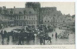 Veurne - Furnes - 415 - Convoi Francais Sur La Place De La Ville - La Geurre 1914-18 - L.C.H. Visé - 1919 - Veurne