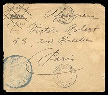 INDOCHINA. 1894. Haiphong - Tonkin - France. FM On Ilustrated HORSES Env. / Soc. Hippique. Unusual. Arrival On Reverse. - Timbres