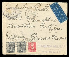 E-GUERRA CIVIL. 1939. Andraitx  /  Baleares A Francia. Via Aereo. Rara Censura De Andraitx. - Spagna