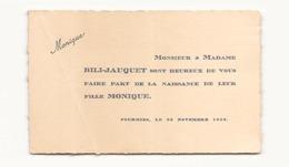 Faire-part Du 23 Novembre 1934 à Fourmies - Birth & Baptism