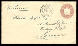 COSTA RICA. 1892. S. Jose / UK. 10c. Stat Env / Via Limon. VF. - Costa Rica