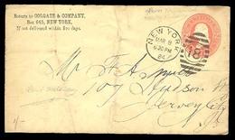 USA. 1884. NY / NJ. 2 Cts. Stat Card. / Colgate Co. Print. - United States