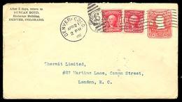 USA. 1906. Denver / Co. - UK. 2cts. Washington Stat Env. + 2adtls. - United States