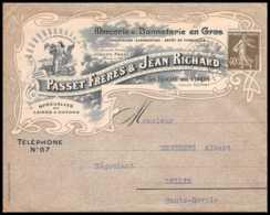 7381 Enveloppe Illustrée Bonneterie Passet Richard 1926 La Roche-sur-Foron Haute Savoie Lullin Semeuse Lettre TB Etat - 1921-1960: Période Moderne